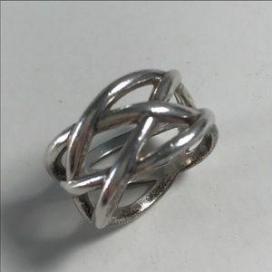 Gently Worn Braided Tiffany Ring Size 7